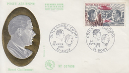 Enveloppe  FDC  1er  Jour   Henri   GUILLAUMET   BOUY   1973 - 1970-1979