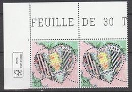 France 2017 - NEUF - Y & T - Coeur Balmain - (2  Timbres X 1,46€) -  Timbres De Feuille - Tirage : 1500000 Exemplai - Neufs