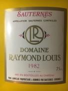 3382 - Domaine Raymond Louis 1982 - Bordeaux