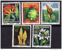 A. O. F. N° 68 / 72 XX Flore  : La Série Des 5 Valeurs TB