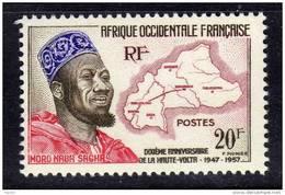 A. O. F. N° 73 XX 10ème Anniversaire De La Reconstitution Du Territoire De La Haute Volta Sans Charnière TB
