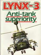 Plaquette De Luxe Officielle WESTLAND Hélicoptère Militaire Le Lynx 3  Anti Tank 1982 - Aviation