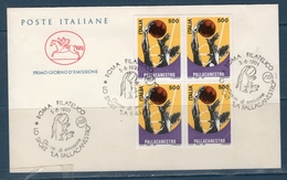 "Italia 1991 "" Pallacanestro"" -- FDC Cavallino Quartina In Varietà - 6. 1946-.. República"