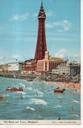 CP - PHOTO - THE BEACH AND TOWER - BLACKPOOL - E. NAGELE - JOHN HINDE - - Blackpool