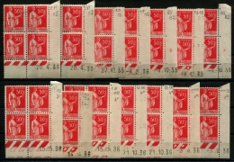 FRANCE - N°283 - 14 Blocs De 4 Coins Datés - Neuf **/* TB - France