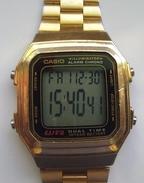 CASIO A178W Gold Quartz Men Watch - Montres Modernes