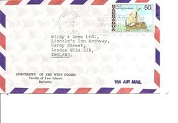 Barbades -Voiliers ( Lettre Par Avion  De 1979 Vers La Grande-Bretagne à Voir) - Barbados (1966-...)