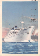 "05428 ""MOTONAVE SURRIENTO - FLOTTA LAURO""  CART SPED 1957 - Banche"