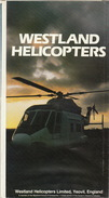 Grand Folder Officiel Westland Dépliant 83 Helicoptère - Aviation