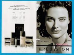 Cartes Parfumées Carte CHANEL REVITALEYES  De   CHANEL  PRÉCISION DOUBLE RECTO VERSO - Modern (vanaf 1961)