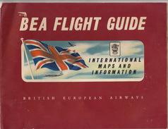 Brochure BEA FLIGHT GUIDE Aviation British European Airways Viscount Pionair Elizabethan Hélicoptère - Aviation Commerciale