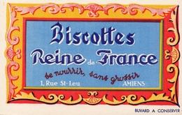 Buvard  - AMIENS 1 Rue Saint Leu  -  Biscottes Reine De France - Biscottes