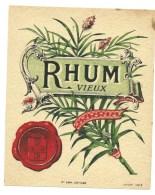 étiquette  Ancienne  Rhum  Vieux  Cannes Imp Jouneau  N°594 - Rhum