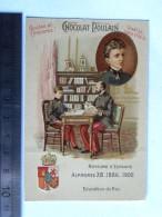 Chromo Chocolat Poulain - Royaume D'Espagne - Alphonse XIII 1886 1902 - Education Du Roi - Poulain