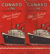 Rare Brochure Officielle De La CUNARD LINE WHITE STAR Paquebot Bateau Queen élizabeth - Aviation Commerciale