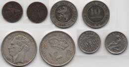 +  LOT DE 4 MONNAIES  BELGES + 1 Centime 1912 + 10 Cts 1862 + 20 Francs 1935 + 50 Francs 1933 + - Monnaies & Billets