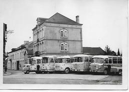 Lessines - Les Cars Et Autobus  Leulier Alignés Sur Le Quai De La Dendre (photo Ancienne) - Lessines