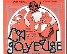 Etiquette Bière : La Joyeuse Saint-André Auvelais Fosses Moinette Dupont Tourpes 75 Cl - Bière