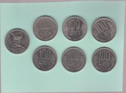 ROMANIA  100 LEi  Coins 1991-92-93-94-95-96  -6 Coins - Roumanie