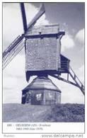 OELEGEM Bij Ranst (Antw.) - Molen/moulin - Blauwe Prentkaart Ons Molenheem Van De Verdwenen Houten Molen (close-up) - Ranst