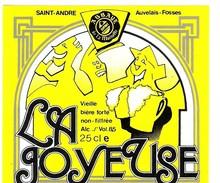 Etiquette Bière : La Joyeuse Saint-André Auvelais Fosses Jaune Dupont Tourpes 25 Cl - Bière