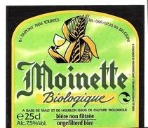 Etiquette Bière : Moinette Biologique Dupont Tourpes 25 Cl - Bière