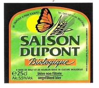 Etiquette Bière : Saison Dupont Biologique Tourpes 25 Cl - Bière