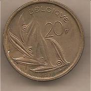 Belgio - Moneta Circolata Da 20 Franchi - 1981 - 1951-1993: Baldovino I