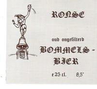 Etiquette Bière : Ronse Bommels-bier 25 Cl - Dupont Tourpes - Bière