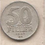 Ungheria - Moneta Circolata Da 50 Filler - 1967 - Hungary