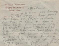 Enveloppe MODERN' HOTEL / Brasserie Restaurant / Martigny Les Bains 88 Vosges - Autres