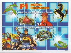 Chad MNH Formula 1, Michael Schumacher, Ferrari Sheetlet And 2 SSs - Automobile