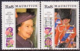 MAURITIUS 1991 SG #849-50 Compl.set Used Royal Birthdays - Mauritius (1968-...)