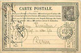 Cpa Précurseur 1877 De VILLEFRANCHE SUR SAONE 69 à Rouen - Villefranche-sur-Saone
