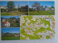 D145973  Map Carte  Karte -  SLUKNOVSKO - Landkaarten