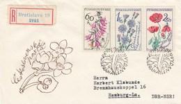 Tchécoslovaquie - Lettres/Fleurs Diverses - Année 1964 - Y.T. N° 1339/1344 - 2 Enveloppes - Czechoslovakia
