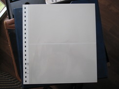 STAMP LINDNER COLLECTOR ALBUM TWO POCKETS CLEAR PLASTIC COVER WHITE BACKGROUND 141mm X 2 PAGES 802-217 - Albums & Binders