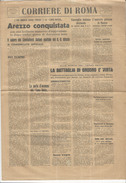 Quotidiano Del 1944 Rastrellamenti Zona Di AREZZO Gubbio Costacciaro Castellina In Chianti Morrona Terricciola  + ANZIO - Bücher, Zeitschriften, Comics