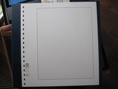 STAMP LINDNER COLLECTOR ALBUM PAGES 10 PCS WHITE BACKGROUND 296 X 272mm 18 Ring Perforation PAGES 802-a - Blank Pages