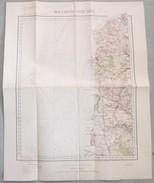 Carte Du S.G.A. N° 3 : BOULOGNE / CALAIS - 1 / 200 000ème - 1898. - Topographical Maps