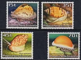 A5530 PAPUA NEW GUINEA 1985, SG 516-9  Sea Shells,  MNH - Papúa Nueva Guinea