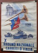 *MANIFESTO POSTER  ROMA 1986 DEL RADUNO NAZIONALE DEI CARRISTI - - Altri