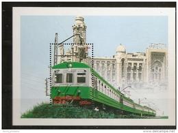 Azerbaidjan Azarbaycan  1996 N° BF 26 ** Train, Chemin De Fer, Locomotive électrique Ancienne, Electricité, Mosquée