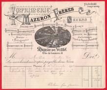 -- NEVERS (Nièvre) - IMPRIMERIE MAZERON FRERES - ATELIERS AVEC MOTEUR HYDRAULIQUE - RUE DU MOULIN D'ECORCE -- - 1900 – 1949