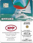 @+ Télécarte Privée D538 - BMP Voilier - 1991/01 - Francia