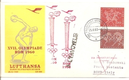 "1960   Vol Olympique ""Frankfort/Rome"" Arrivée: Village Olympique"
