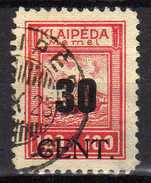 Memel (Klaipeda) 1923 Mi 196, Gestempelt [280117L] - Memelgebiet