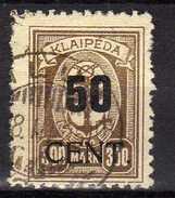 Memel (Klaipeda) 1923 Mi 198, Gestempelt [280117L] - Memelgebiet