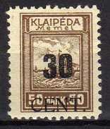 Memel (Klaipeda) 1923 Mi 194 * [280117L] - Memelgebiet
