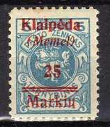 Memel (Klaipeda) 1923 Mi 130 * [280117L] - Memelgebiet